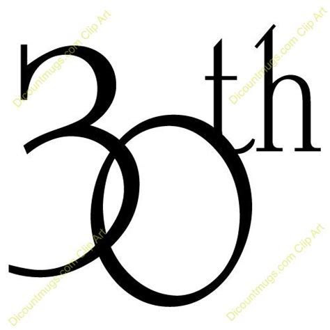 Happy 30th Anniversary Clip Art   Clipart 10063 30th