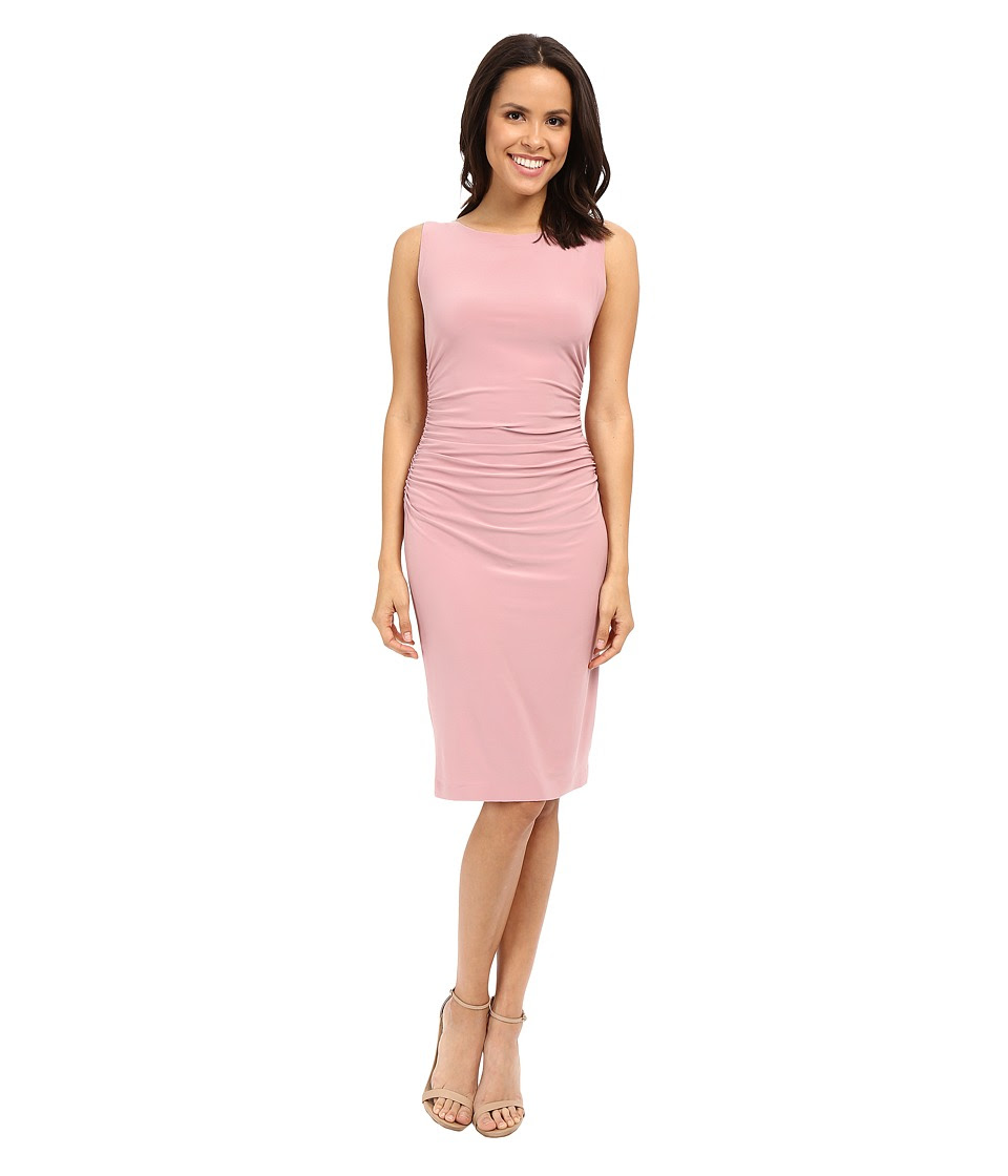 KAMALIKULTURE by Norma Kamali - Shirred Waist Dress (Pink) Women's Dress