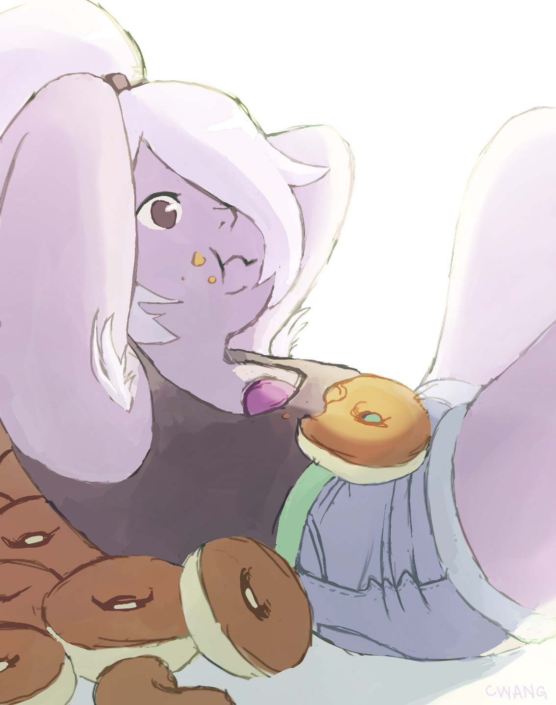 i like the idea of amethyst keeping her fuzzy underarms from her purple puma form
