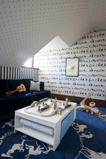 Attice Playroom - Contemporary - boy's room - David Howell