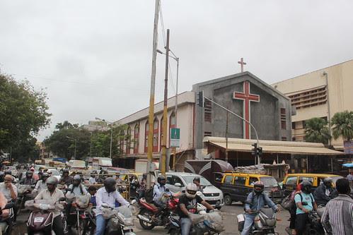 The Mahim Church Signal by firoze shakir photographerno1