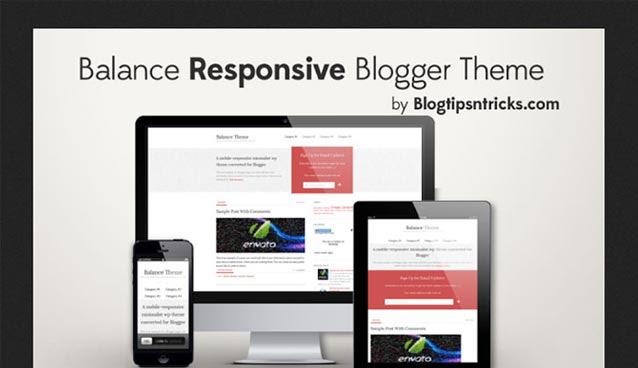 balance responsive BlogSpot theme