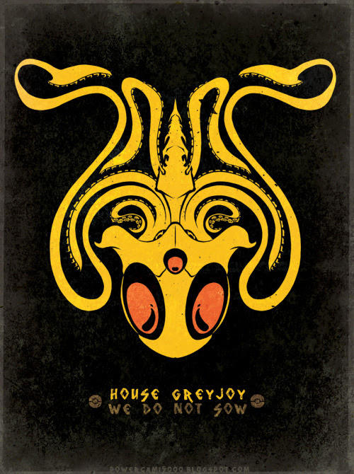 House Tentacruel / Greyjoy by Cami Sanders / posted by ianbrooks.me