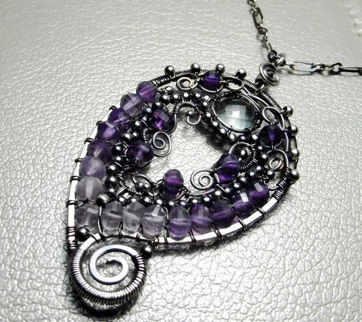 paisley jewelry | Jewelry Ideas | Project on Craftsy: Purple Paisley