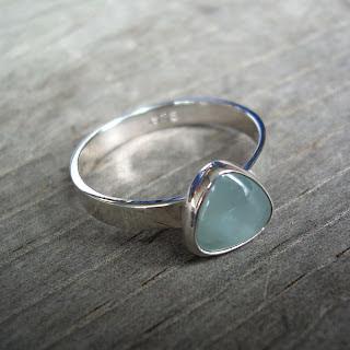 petite aquamarine ring