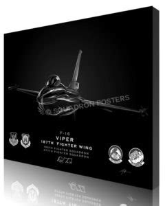 F-16 187th FW Jet Black Lithograph – Squadron Posters