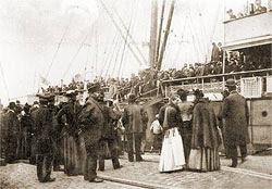 Emigranter går ombord