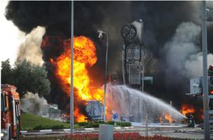 פגיעה בתחנת דלק באשדוד