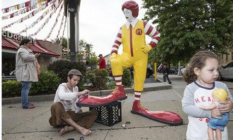 Banksy's Ronald McDonald statue
