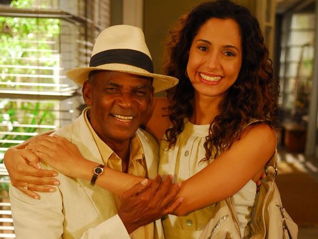 Camila e Antônio Pitanga já contracenaram diversas vezes na telinha. (Foto: TV Globo / Renato Rocha Miranda)