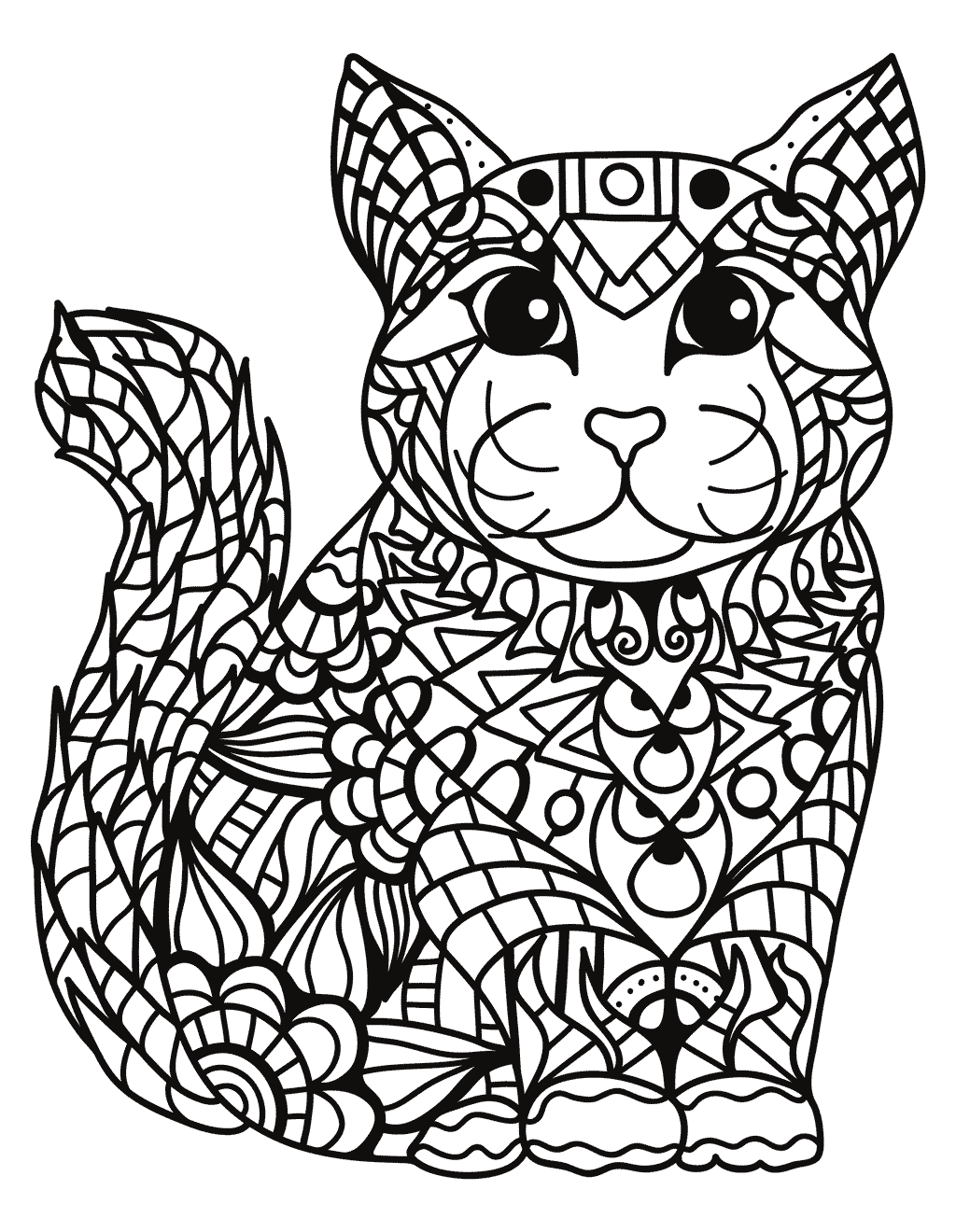 Easy Zentangle Coloring Pages at GetColorings.com | Free ...
