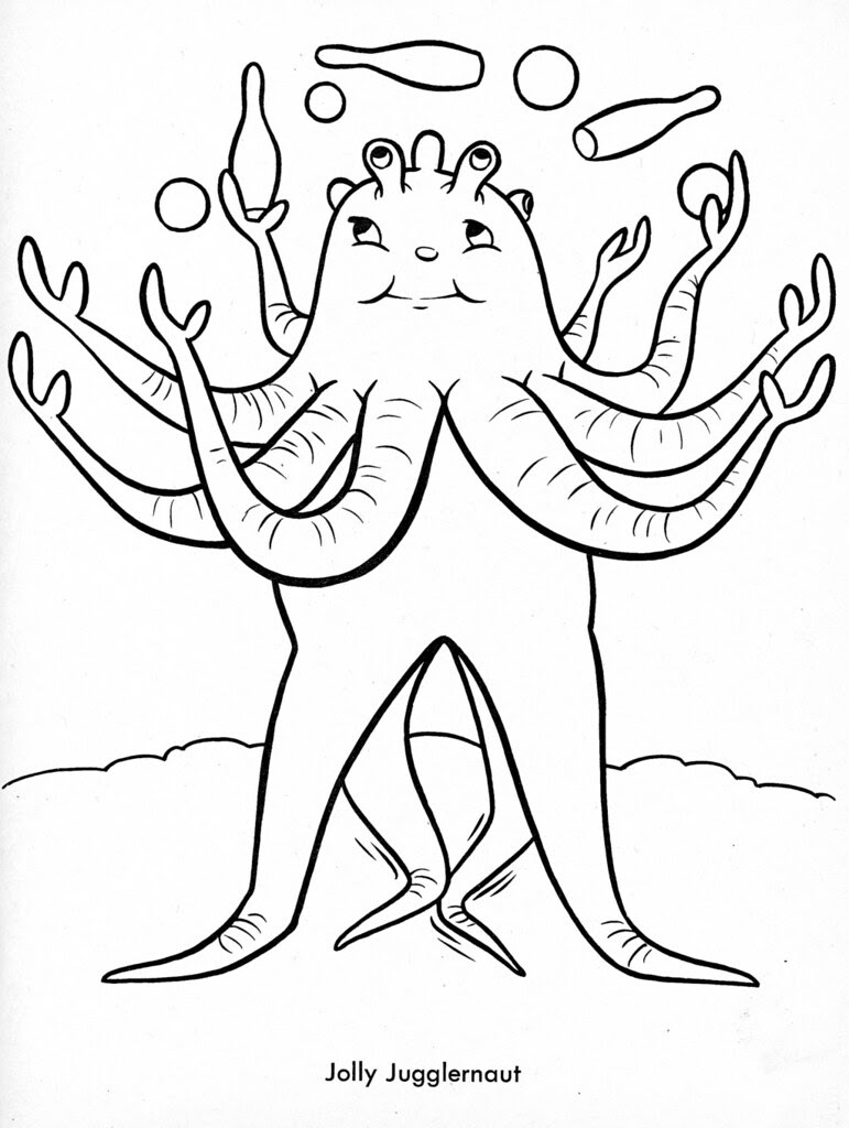 Funny Monsters Coloring Book (Treasure Books, 1965) 12