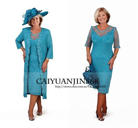 Lace Mother Of the Bride Outfits with Long Coat Plus Size