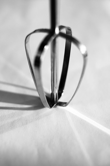An eggbeater in B&W