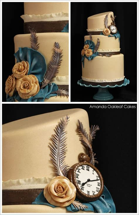 Victorian Steampunk Wedding Cake   The Cake Blog