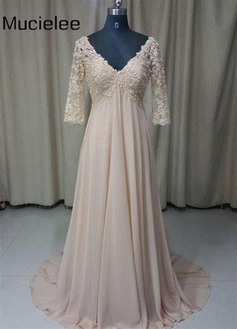 Aliexpress.com : Buy Champagne Long Dress Chiffon