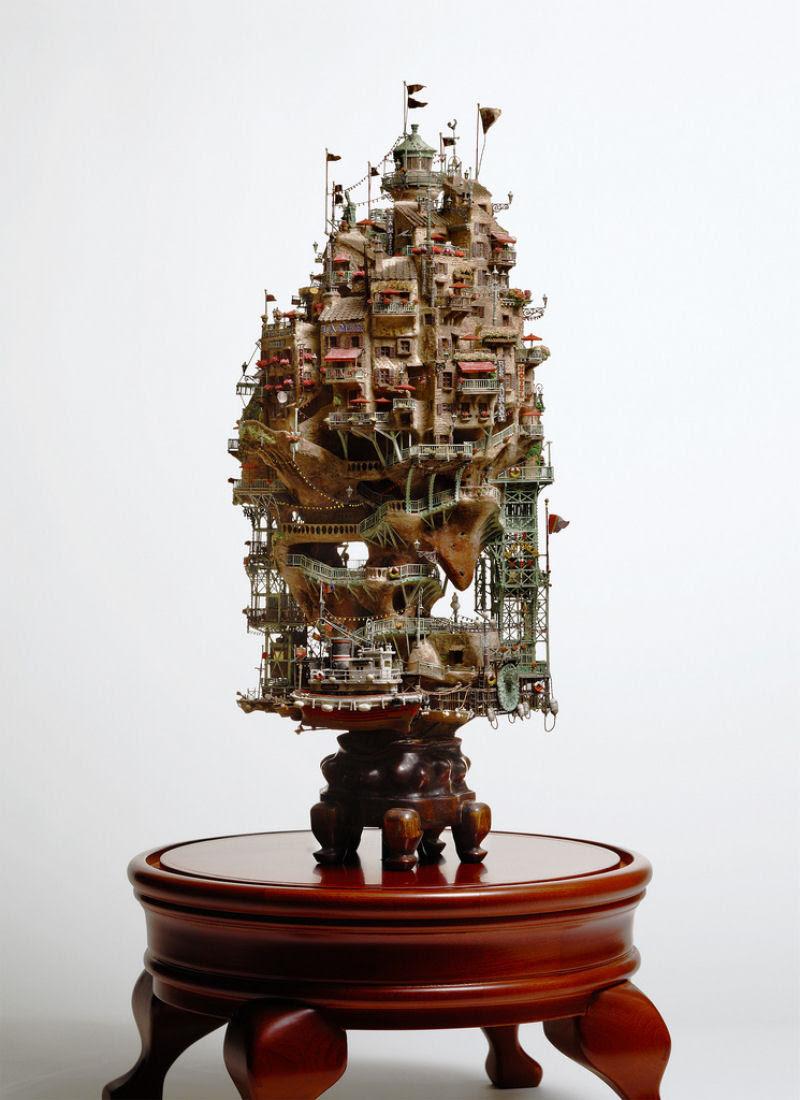 As intrincadas esculturas em miniatura de Takanori Aiba 03