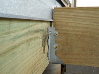 Porch Joist Attached to Hanger