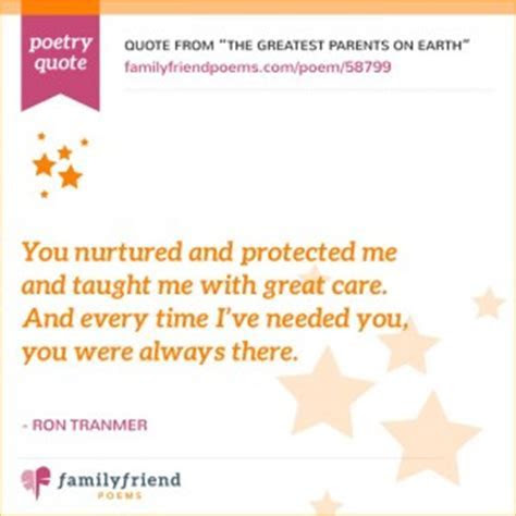 Thank You Poems for Parents and Family