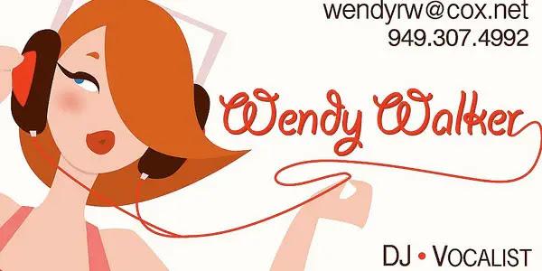 DJ Wendy business card