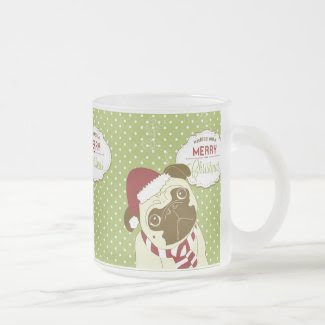 Christmas Pug Classic White Coffee Mug