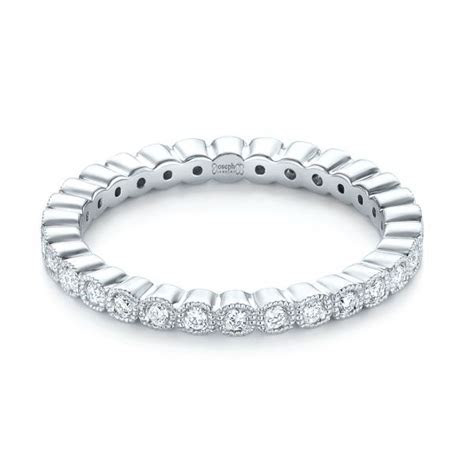 Bezel Set Diamond Eternity Wedding Band #103639   Seattle
