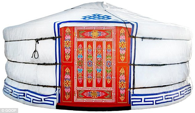 The absurd: An $8,300 yurt by Groovy Yurts made it on to the lifestyle website's 'Ridiculous, But Awesome' gift guide