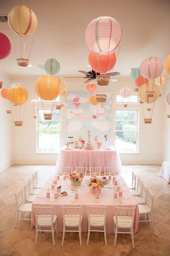 Glenwood Weber Designs Floral Hot Air Balloon Centerpiece Party