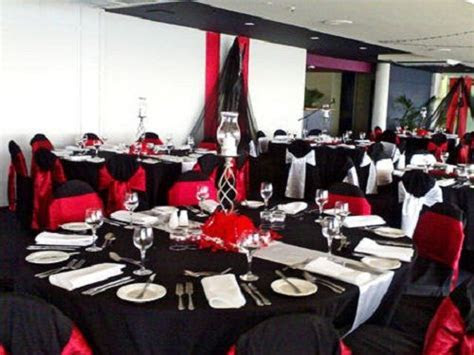red and black party decorations   wedding decorations red