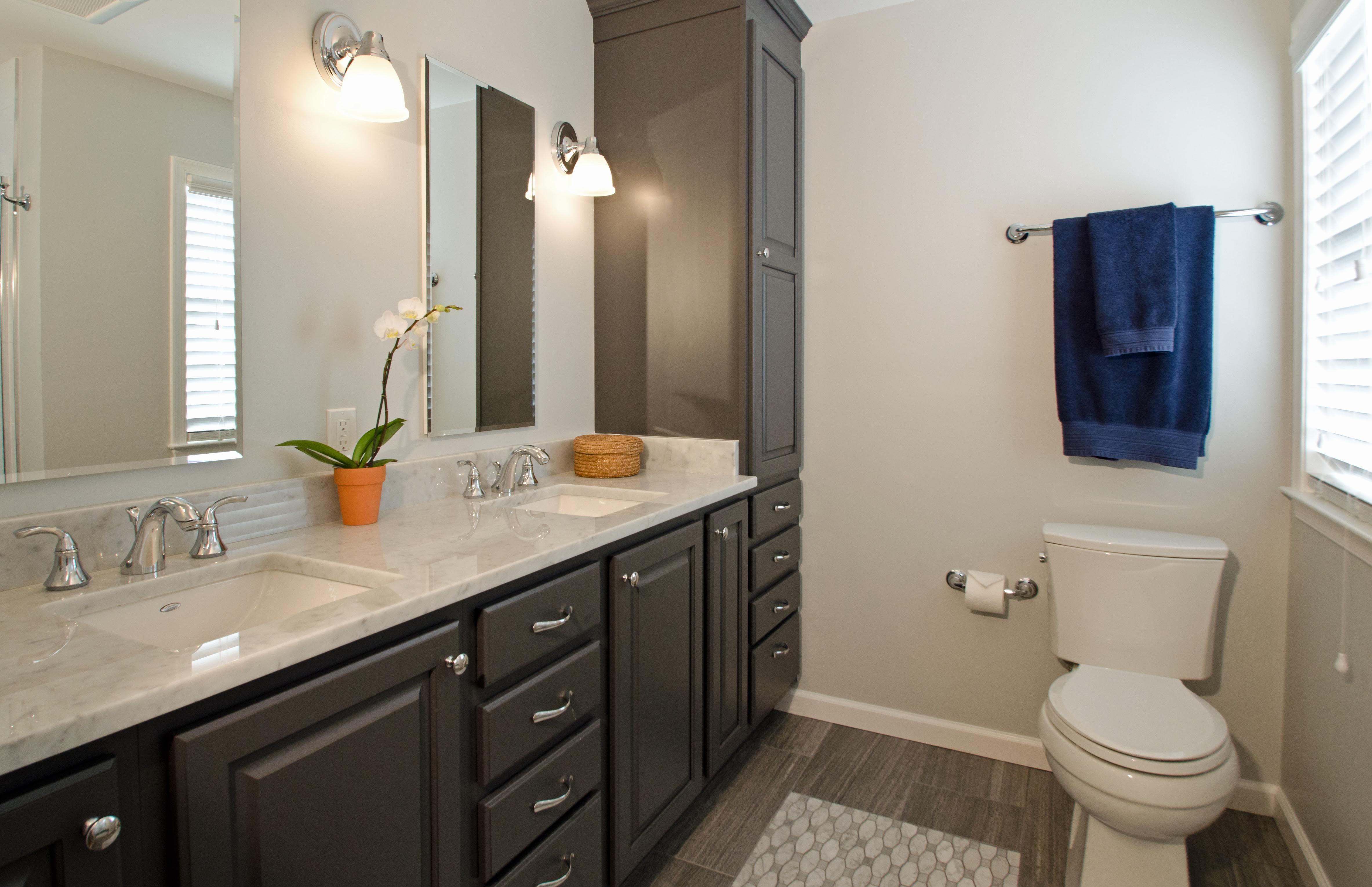 Dark Bathroom Cabinets Most Popular Bathroom Cabinet Colors