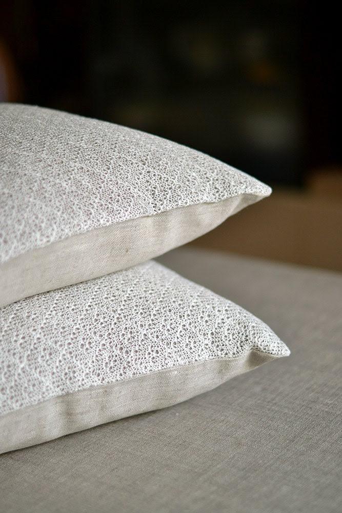 Linen Pillow Case White Gray Cover Knitted Pillow Cover Organic Cushion  Linen Decorative Case Natural Linen Pillow Throw - LinenLifeIdeas