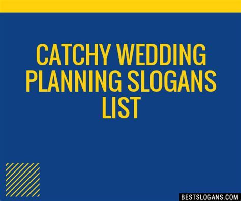 30  Catchy Wedding Planning Slogans List, Taglines