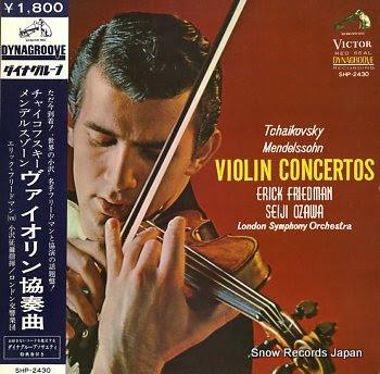 FRIEDMAN, ERICK tchaikovsky; violin concertos