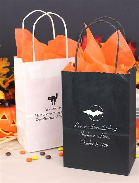 5 x 8 Custom Printed Halloween Kraft Gift Bags (Set of 25