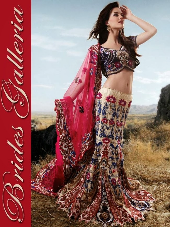 Indian-Bridal-Wedding-Lehangas-Velvet-Embroidered-Blouse-Fish-Cut-Lehenga-by-Brides-Galleria-9