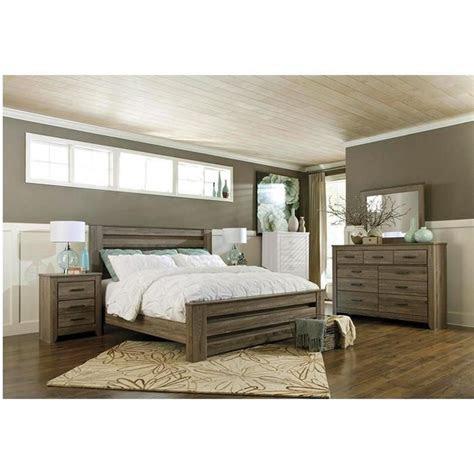 zelen  piece king bedroom set  warm gray nebraska