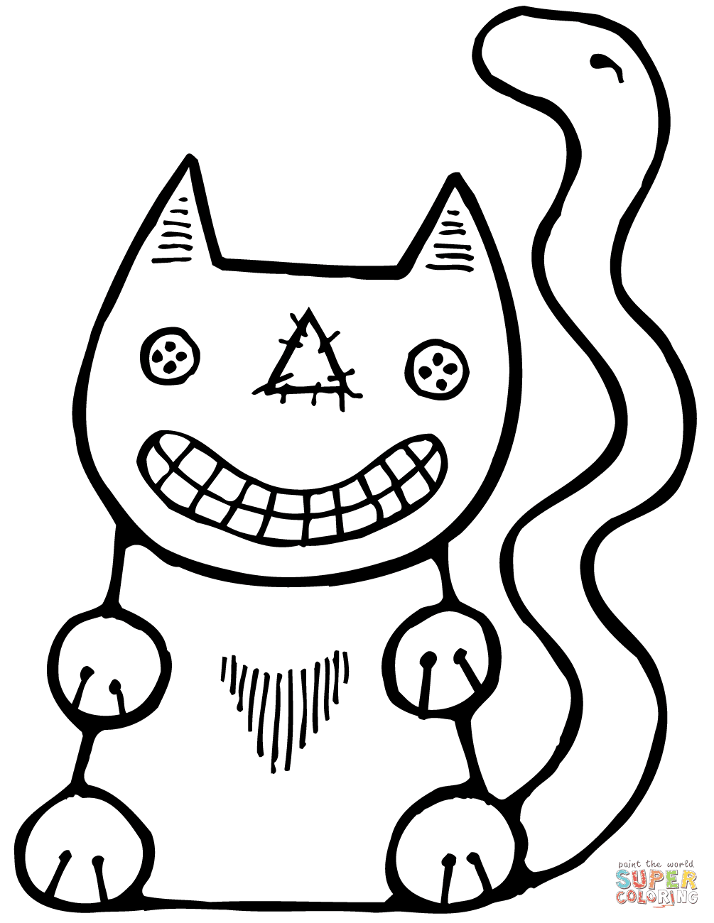 Halloween Cat coloring page | Free Printable Coloring Pages