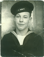 Sailor in a photo booth