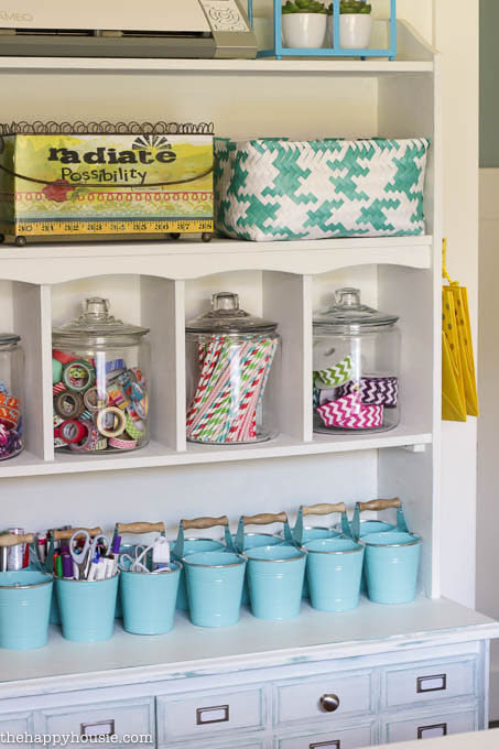 Colourful Cheery Craft Room Tour at thehappyhousie.com-12