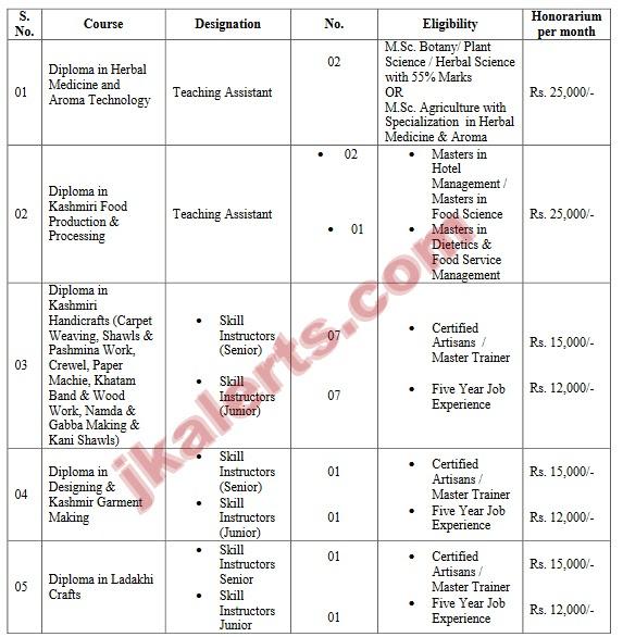 Central University of Kashmir Jobs Details