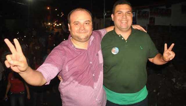 Ex-apoiador e advogado Mauro Guimarães ao lado do deputado eleito Fábio Macedo