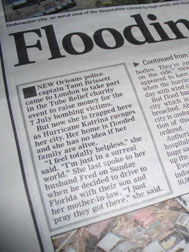 Tami's Story makes The Evening Standard - photo by Jon Choo
