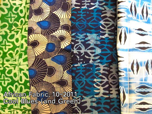 African Fabric, 10-2011 Cool Blues
