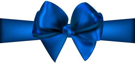 Blue Ribbon with Bow PNG Clip Art   Best WEB Clipart