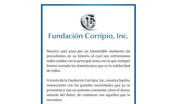 Fundación Corripio dona RD$ 50 millones para lucha COVID-19