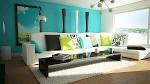 bright blue wall paint colors living room design - How to Choose ...