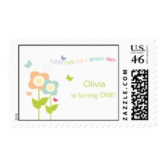 Butterfly Birthday Postage zazzle_stamp