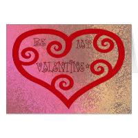 Be My Valentine Heart Card