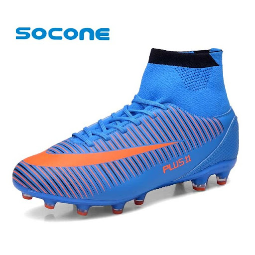 8041e694e Best Offers Socone Plus Size Long Spike FG Men Football Boots Athletic  Sport Training Sneakers Professional Soccer Shoes chuteira futebol