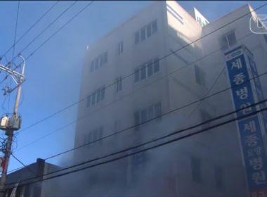 Incêndio em hospital deixa pelo menos 37 mortos na Coreia do Sul